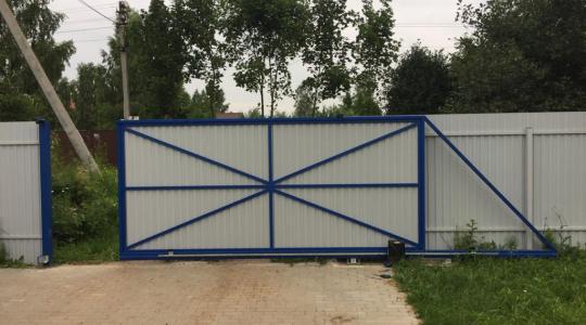 Откатные ворота, Малахово, г. Заокск
