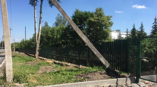 Сделали на заказ откатные ворота в п. Грицовский Новомосковский район