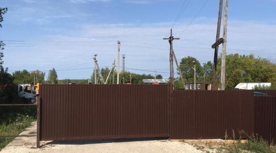 Установка откатных ворот с автоматикой в дер. Фёдоровка