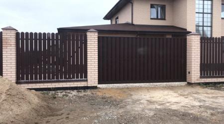 Изготовление и установка автоматических откатных ворот в п. Маслово