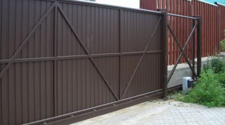 Откатные ворота: особенности, преимущества, ограничения